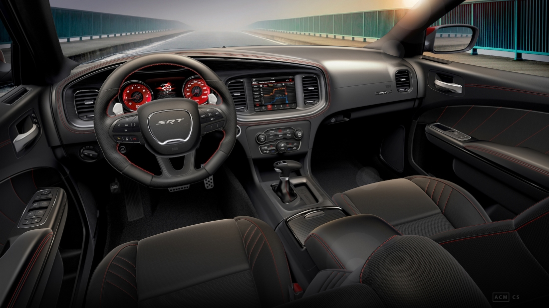 Interior of 2019 Dodge Charger SRT Hellcat Octane Edition