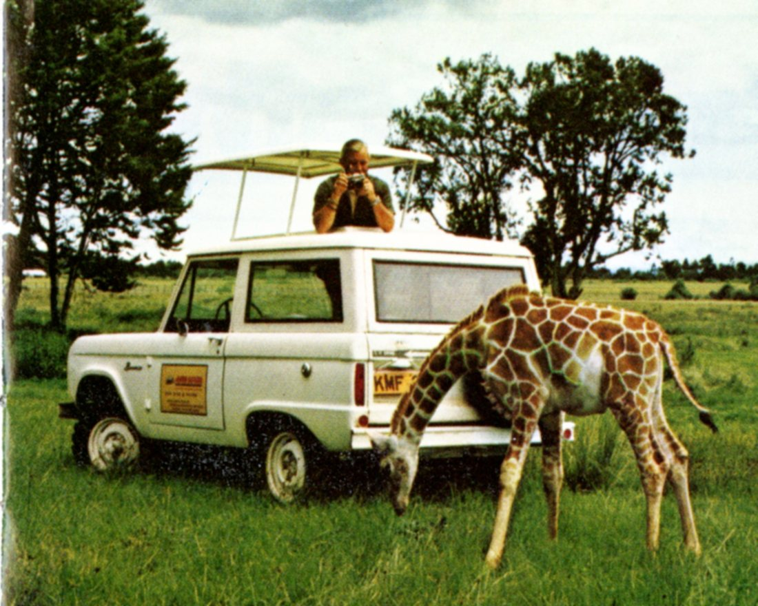 1974 Ford Truck Times_ Bronco with Giraffe