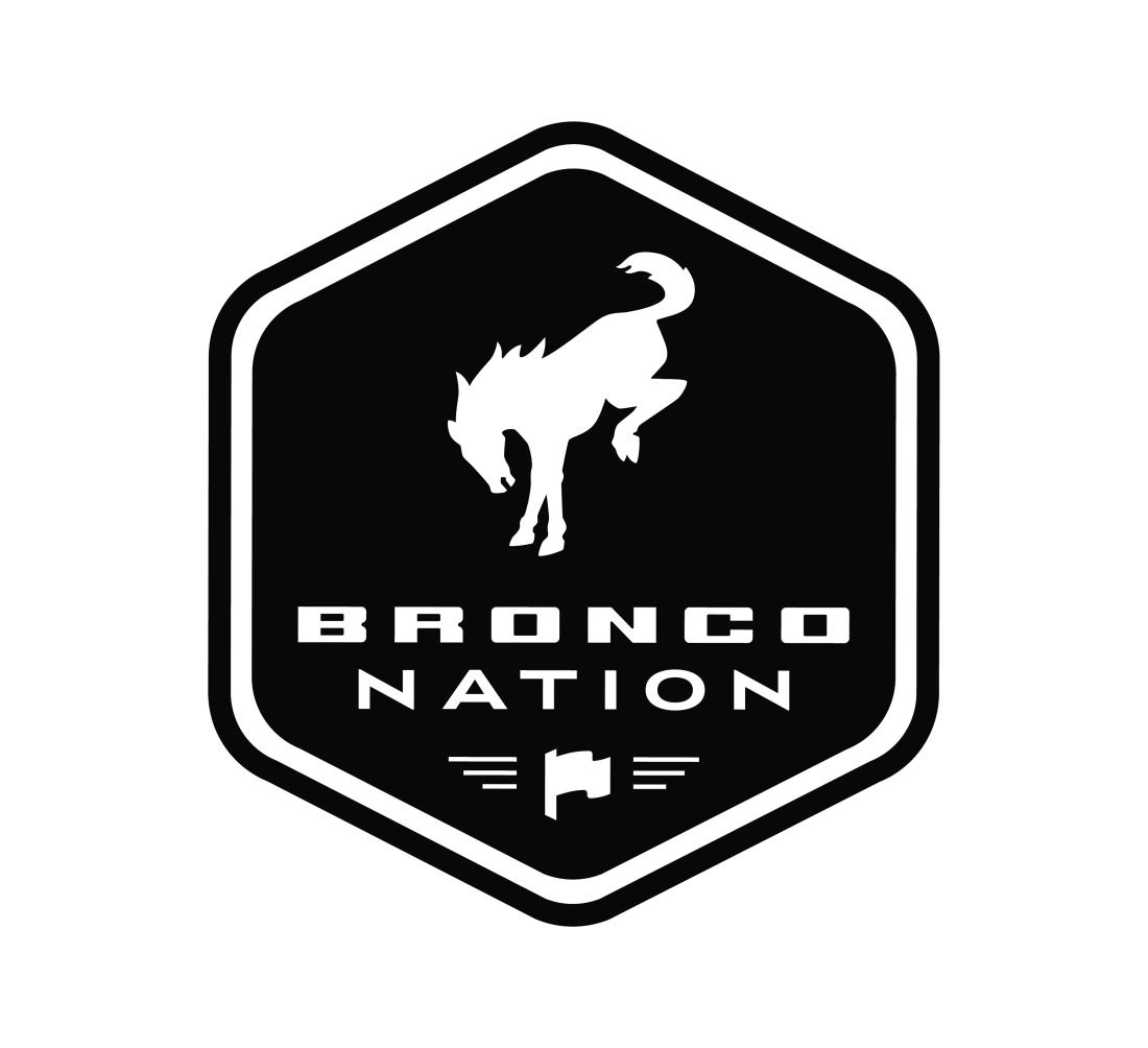 BroncoNation Badge Black