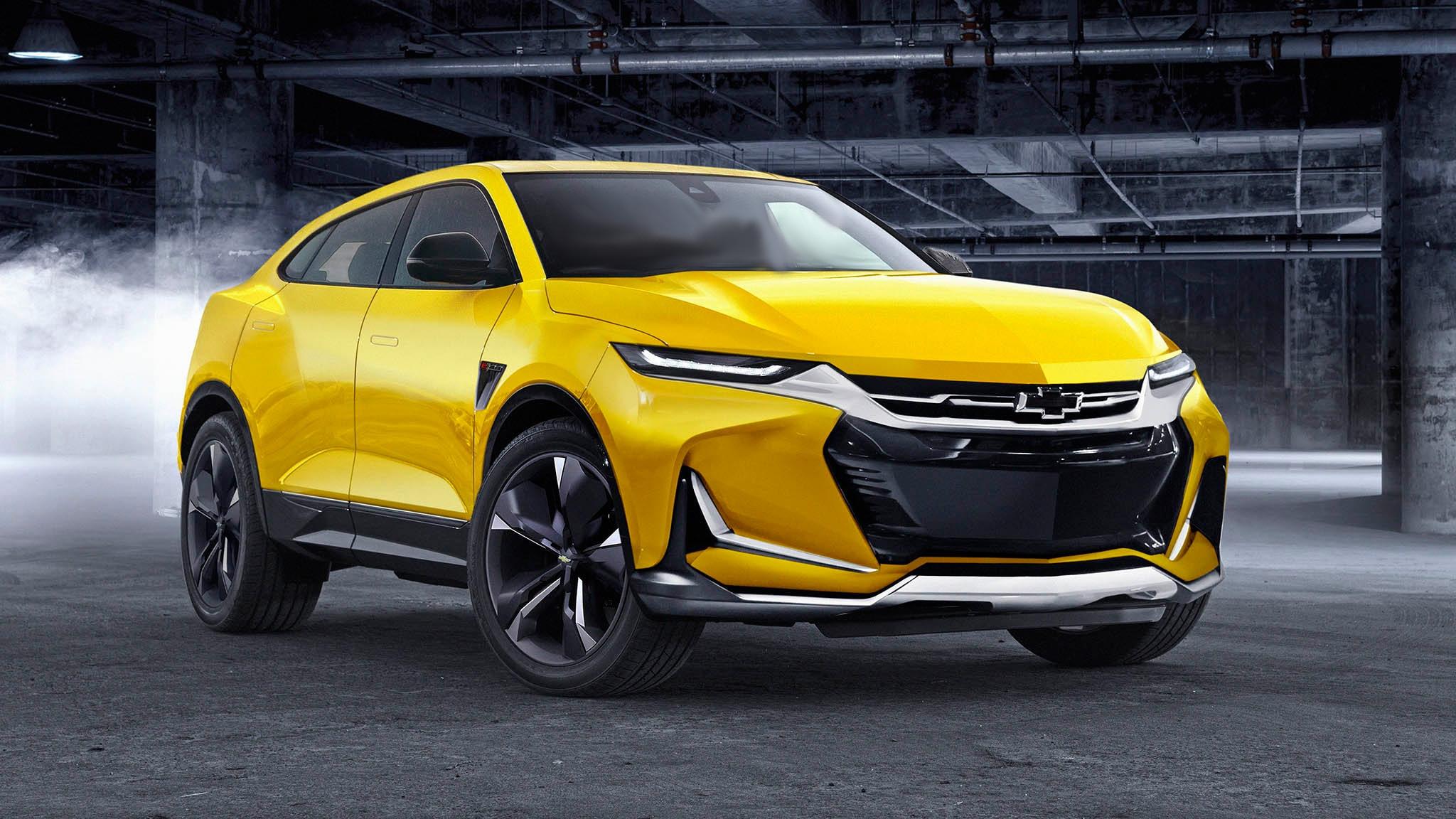 2021-Chevrolet-Camaro-E28-electric-SUV-front-three-quarter-render