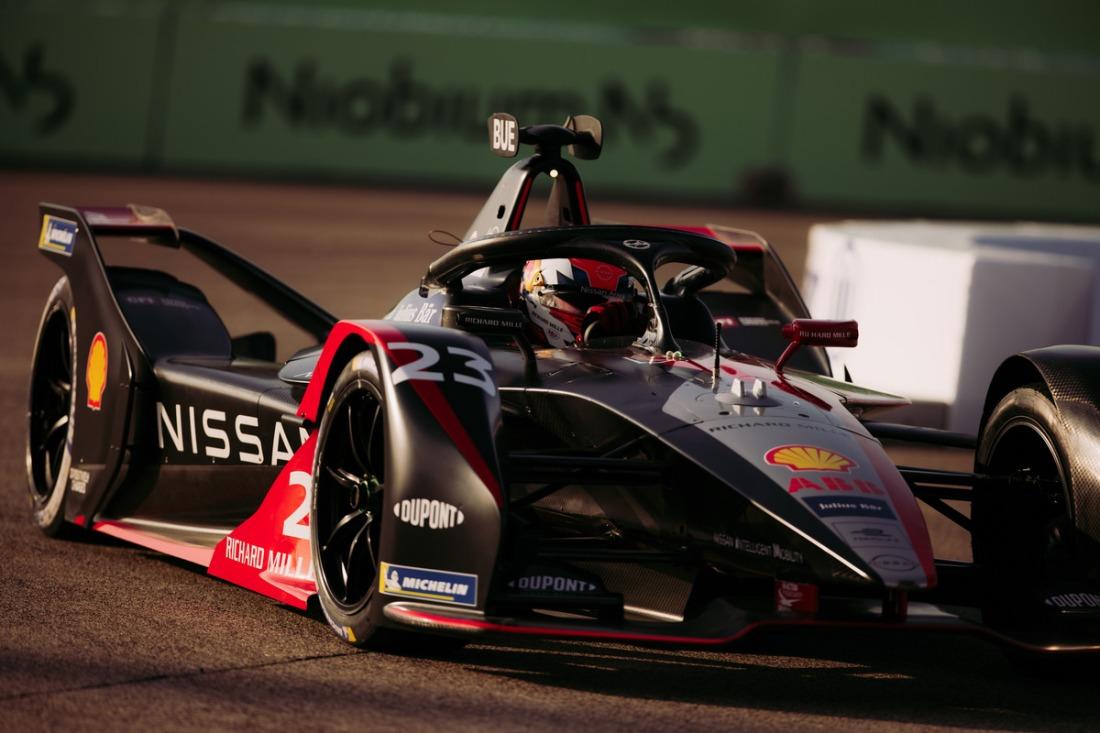 Nissan Formula E driver Sebastien Buemi in car #23 ARIYA